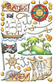 Pirate Epoxy Stickers