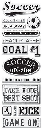 Soccer Game Epoxy Stickers