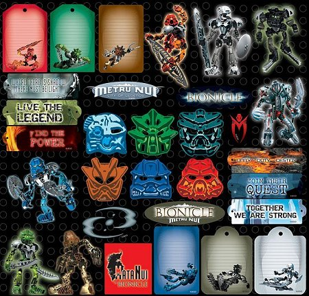 Lego Bionicle Stickers
