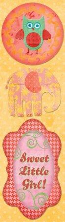 Boho Little Girl Stickers