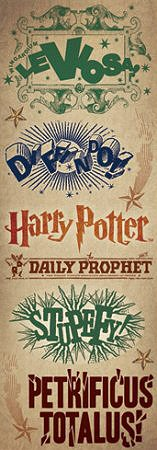 Harry Potter Spells Stickers