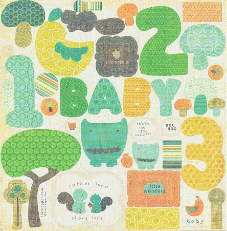 Baby 123 Glitter Cut-Outs