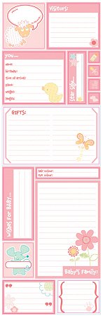 Glitter Baby Girl Journaling Stickers
