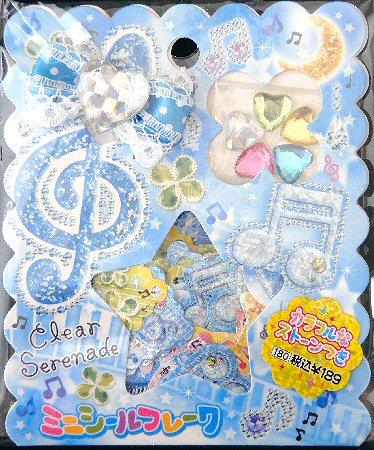 Clear Serenade Music Kawaii Sticker Sack