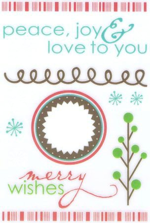 Merry Wishes Rub-Ons