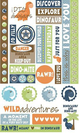 Dinosaurs Textured Stickers