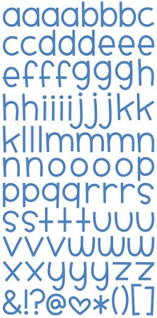 Blue Jean Sweet Alphabet Stickers
