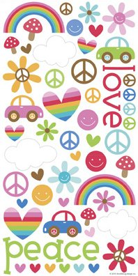 Feeling Groovy Icons Stickers