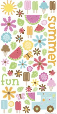 Summer Time Icons Stickers