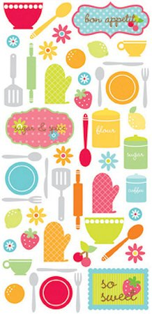 Bon Appetit Icons Stickers