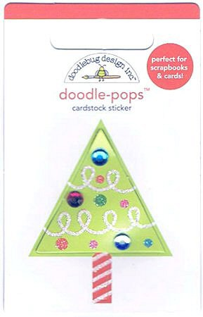 3D Glitter Christmas Tree Stickers