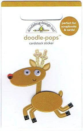 3D Rudolph The Reindeer Stickers