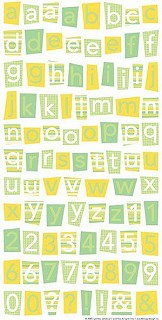 Nature Alphabet Stickers