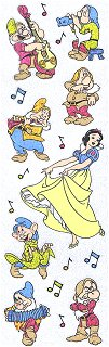 Sparkly Snow White Dancing Stickers