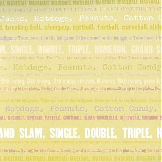 Text Baseball Paper