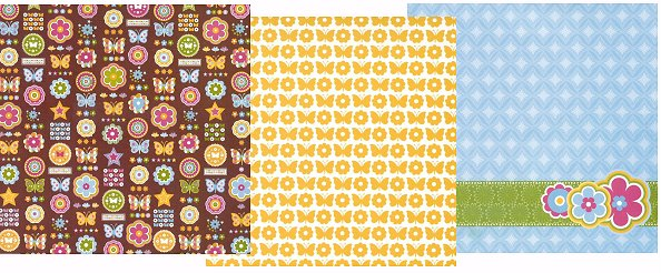Ylw Butterfly Paper Pack 12x12