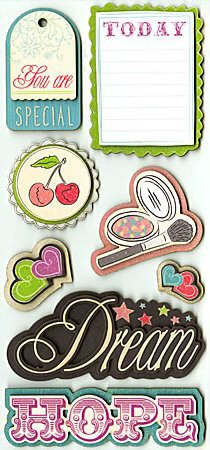 3d All About Girls Stickers