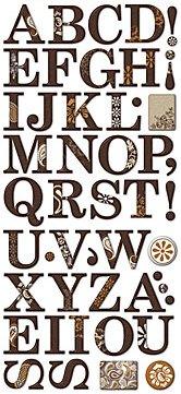 Natural Glitter Epoxy Alphabet Stickers