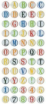 Grade School Alphabet Epoxy Stickers