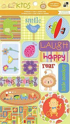 Glitter Kids Fun Stickers