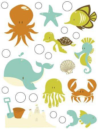 Rock Pool Sea Friends Epoxy Stickers