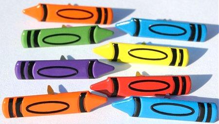 12 Crayon Brads