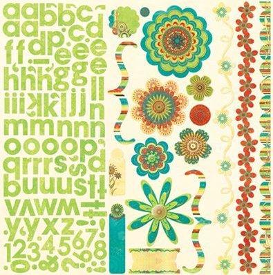 Flower Child W/ Alphabet Stickers