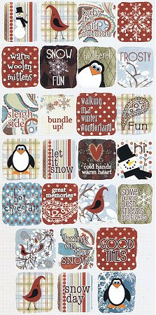 Hot Chocolate Squares Stickers