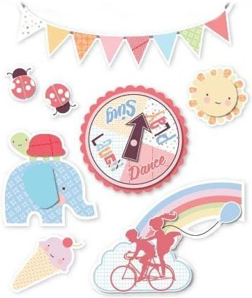 3D Laugh Sing Play Stickers