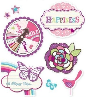 3D Happiness Stickers