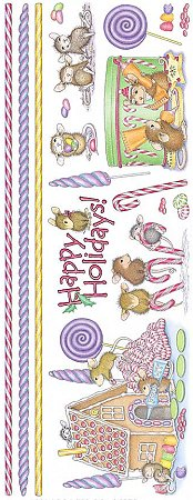 Christmas Holidays Mice Stickers