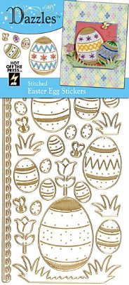 Gold Easter Eggs Stickers