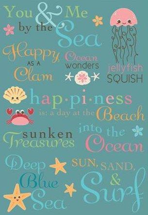 Splash Dance Words Rub-Ons