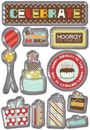 Birthday Bash Epoxy Stickers