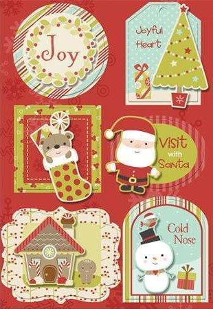 3D Santa's Helpers Stickers