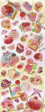 Lady Mode Sweets Epoxy Kawaii Stickers