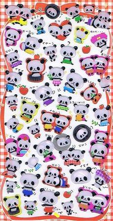 Panda Hard Epoxy Kawaii Stickers