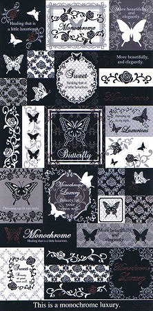 Butterfly Monochrome Kawaii Stickers
