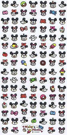 Disney Mickey & Minnie Faces Kawaii Stickers