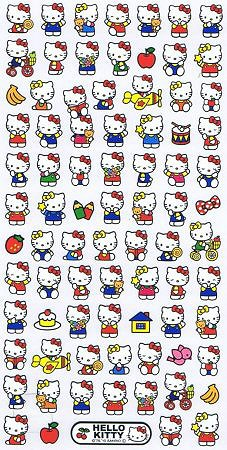 Hello Kitty At Play Kawaii Stickers