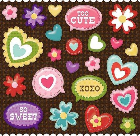 Heart Pillow Stickers