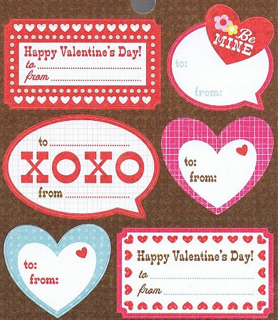 Valentines Day Labels Stickers