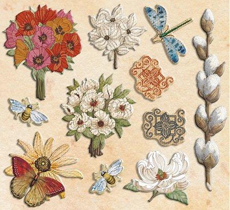 Blossomwood Glitter Epoxy Stickers