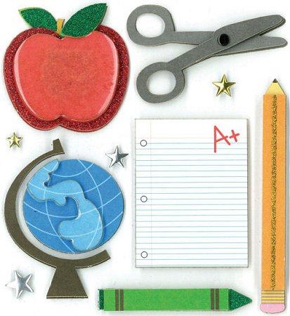 3D Classroom Fun Stickers