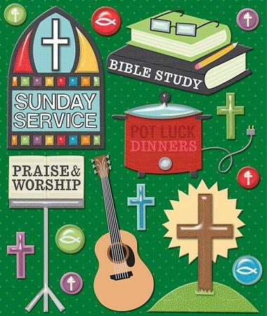 3D Church Activities Stickers
