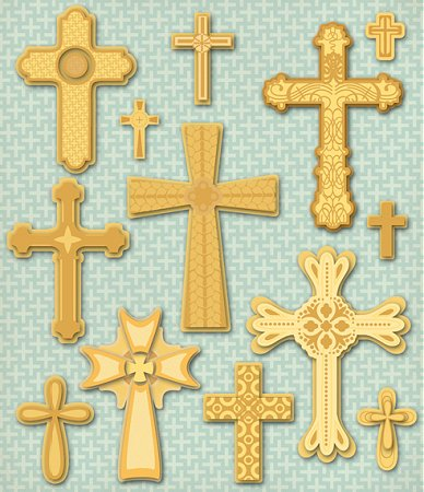 3D Crosses Stickers
