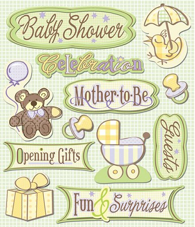 3d Baby Shower Stickers 10089 Baby Stickers Scrapbooking