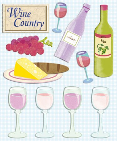 3D Wine Country Stickers