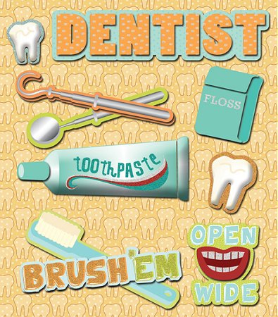 3D Dentist Stickers