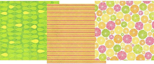 Fruit Glitter Paper Pack 12x12